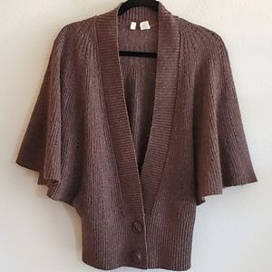 Moth Brown Knitted Cape Cardigan Shrug